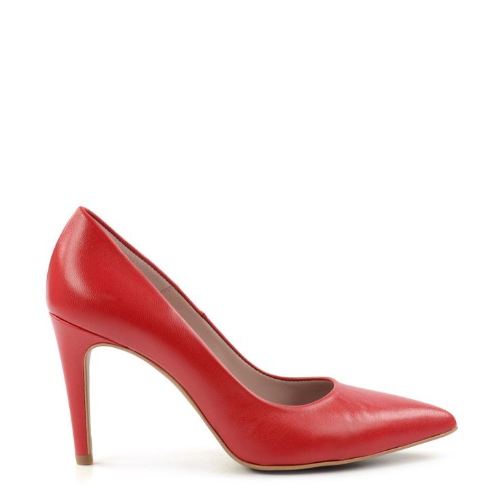 Rode pumps leer #pumps #heels #red