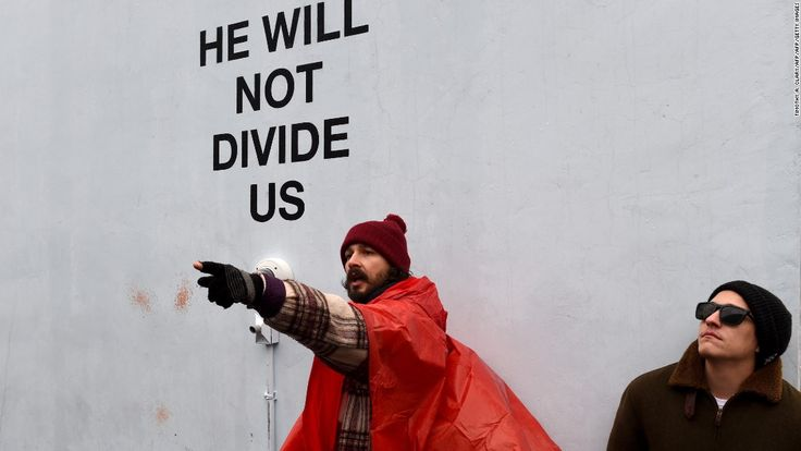 awesome Shia LaBeouf arrested at anti-Trump protest