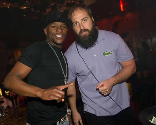 Floyd Mayweather, Alistair Overeem ring in 2012 at Marquee