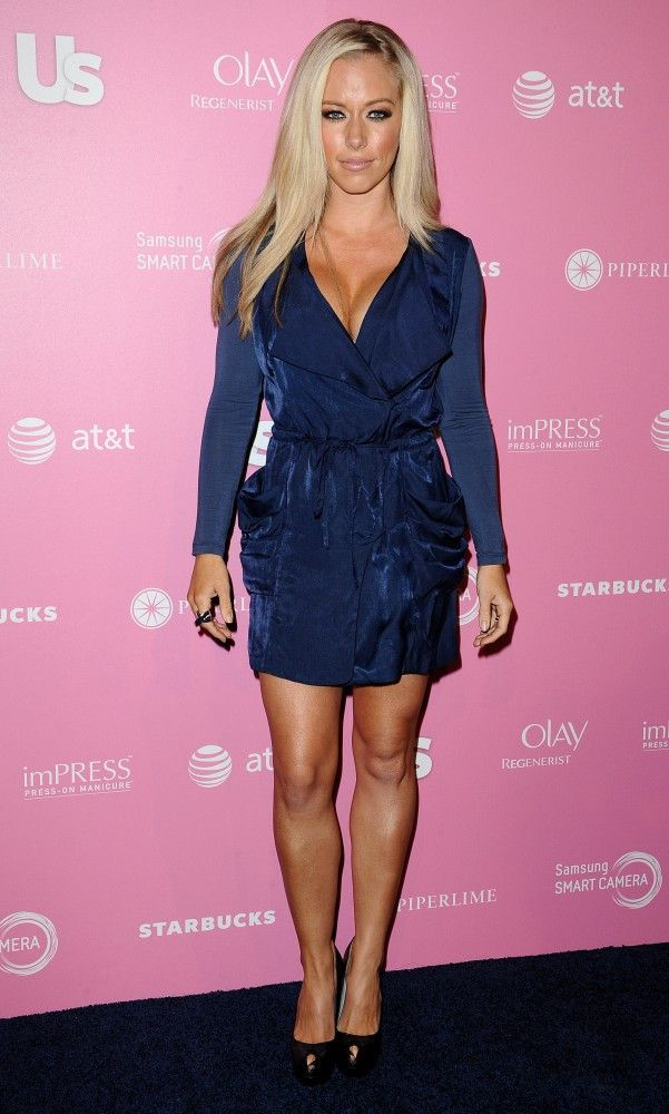 Kendra Wilkinson Cocktail Dress - Kendra's conservative navy dress still managed to show off the Playboy bunny's favorite assets.
