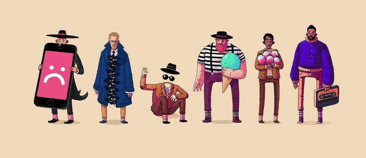 These are some characters I've created in my spare time, I had a real good time designing them, it was also a great opportunity to studynew colors combination and anatomy style.