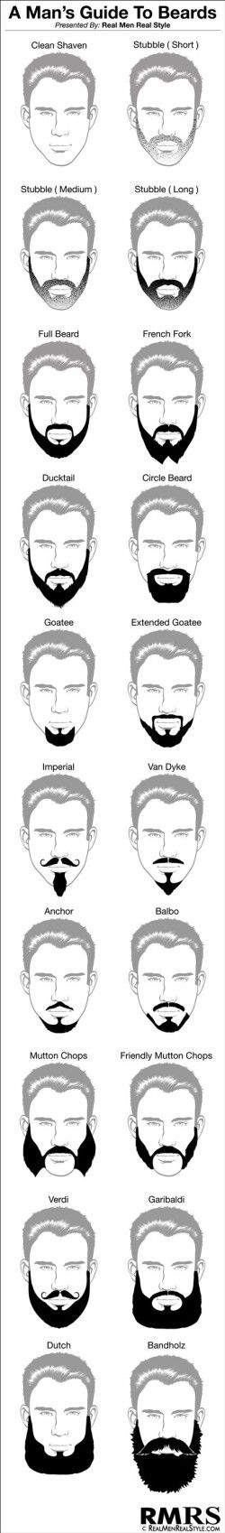 A-Mans-Guide-To-Beard Infographic