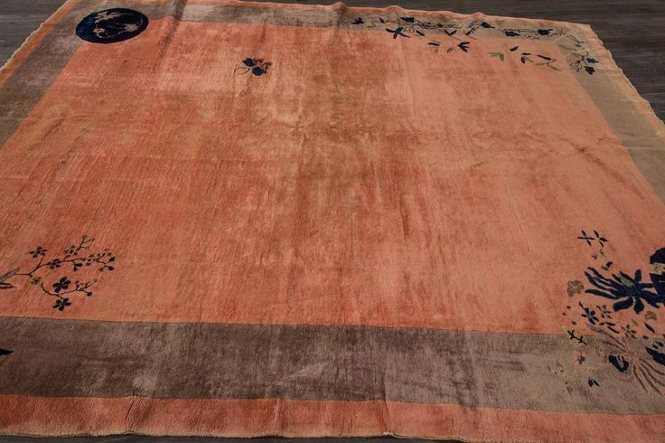 Antique Chinese Deco Rug | From a unique collection of antique and modern chinese and east asian rugs at https://www.1stdibs.com/furniture/rugs-carpets/chinese-rugs/