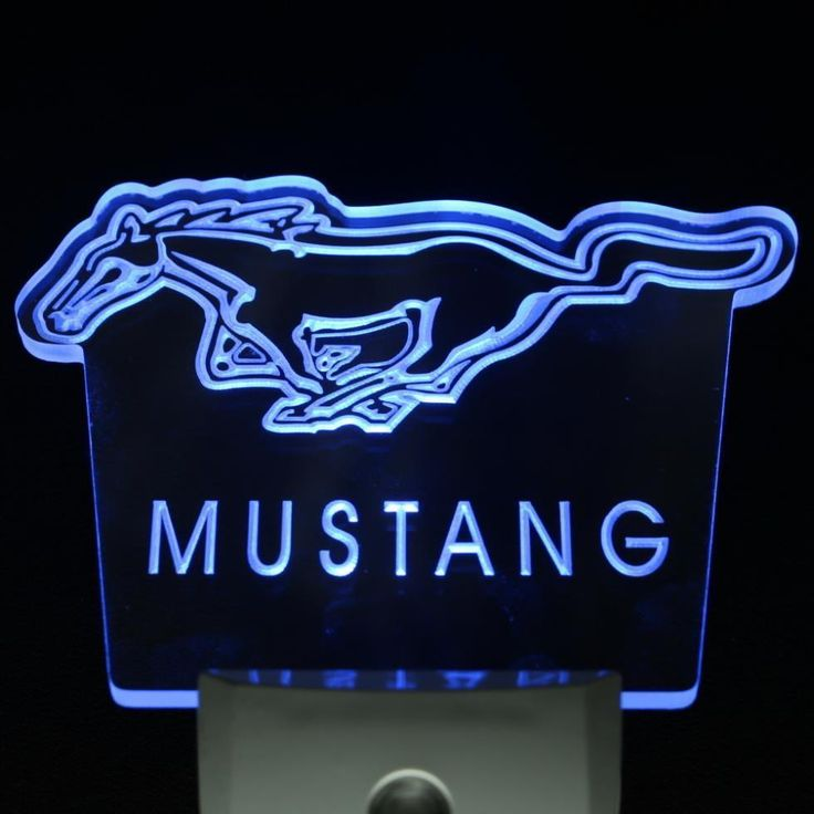Ford Mustang Day/Night Sensor Led Night NR Neon  Sign Home Office Room Car Decor