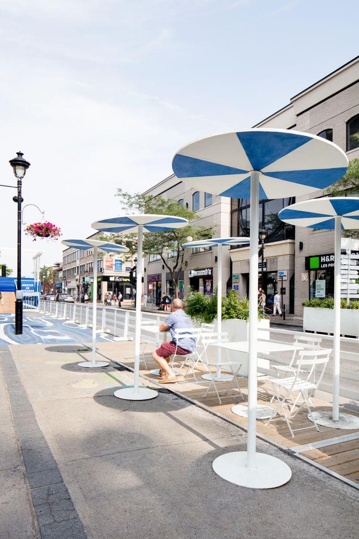 Public space / Boardwalk / Urban design / Blue / White / Maritime / Summer / Montreal / Square / Identity / Graphism / Cabin