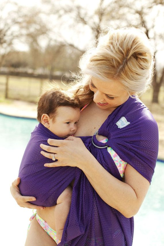 Beachfront Baby Water Ring Sling- wear baby in the shower, in the pool, at the water park and at the beach! 10 colors, one size