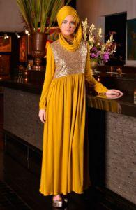 Model Busana Muslim Gamis Pesta Produksi Zoya