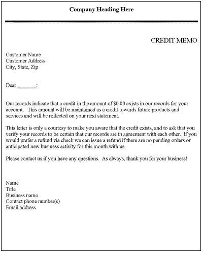 Credit memo credit letter template letter sample letter credit memo credit letter template letter sample letter templates and microsoft word spiritdancerdesigns Images
