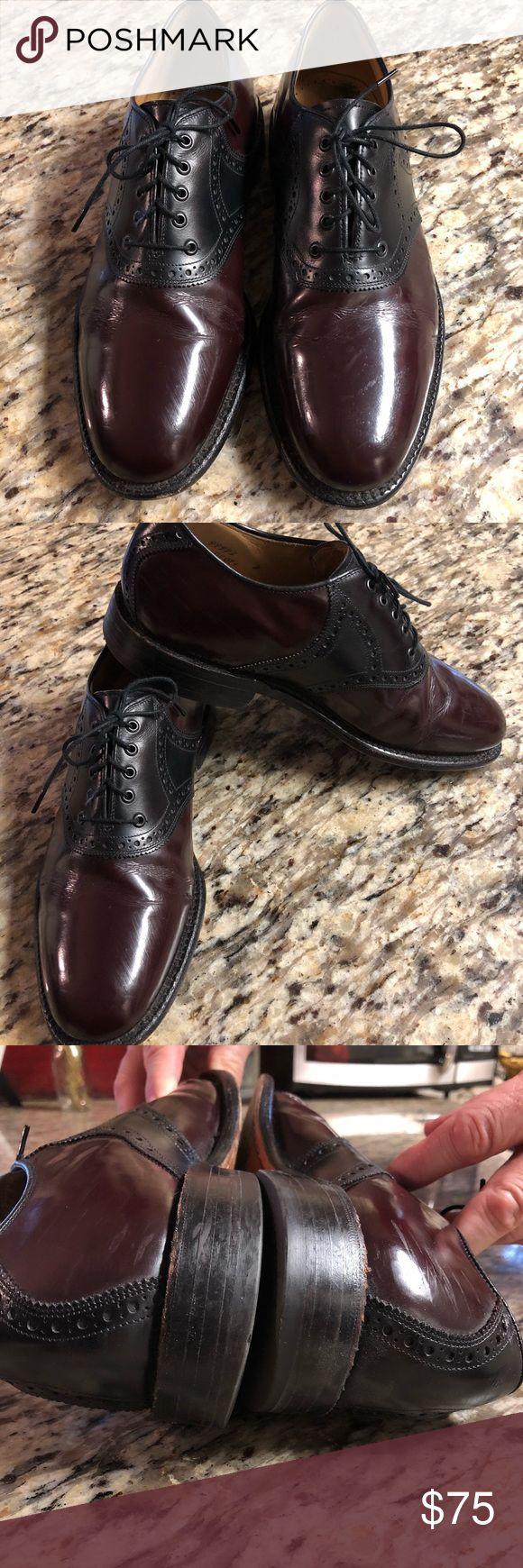 Men's Johnston & Murphy  Saddle Oxford Men's Johnston & Murphy Saddle Oxford Shoes Size 8 Style: The Owen Cordovan and Black Saddle Oxford Excellent Condition Johnston & Murphy Shoes Oxfords & Derbys #oxfordshoes
