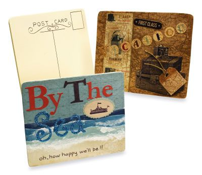 Vintage Wooden Postcards