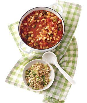 Witte bonen chili met pittige couscous