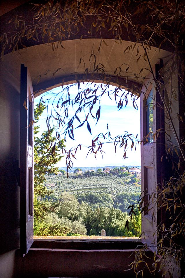 Window at Castello di Poppiano, overlooking [...]