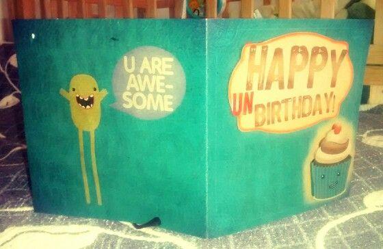 Tarjeta en papel craft con relieves. Expresa tus emociones y sé feliz! :)