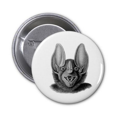 False Vampire Bat Pinback Button
