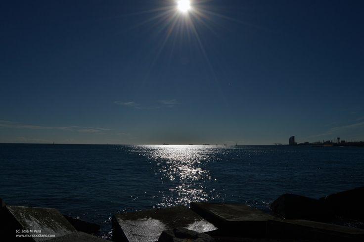Sol a media luz
