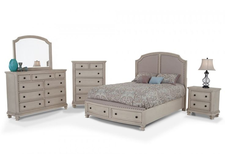 euro cottage 8 piece queen bedroom set