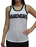 NFL OAKLAND RAIDERS Womens Athletic Dri-Fit Mesh Tank Top L White