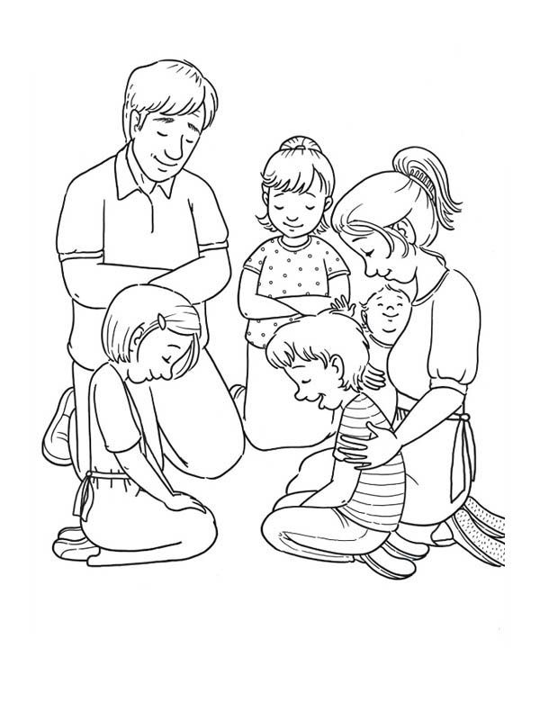 Coloring Family Pages Prayinggether 2020 Sunday School