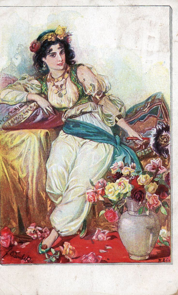 'Türkische Frauen. Nr.19' German postcard. 1918.