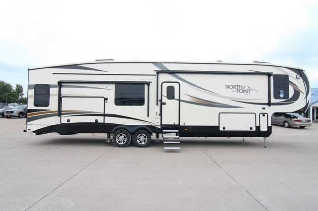 2016 New Jayco North Point 351RSTS Fifth Wheel in Iowa IA.Recreational Vehicle, rv, Davenport, Ia Rv Dealership in the Heartland of America, close to you, anywhere. Family owned and operated since 1959. BBB A+ rating, BBB Integrity Award Winner, Top 50 RV Dealer Award Winner