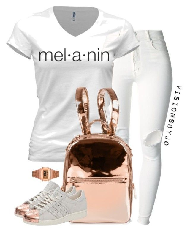"""Untitled #1363"" by visionsbyjo on Polyvore featuring (+) PEOPLE, Casio, DKNY, adidas Originals, women's clothing, women's fashion, women, female, woman and misses"