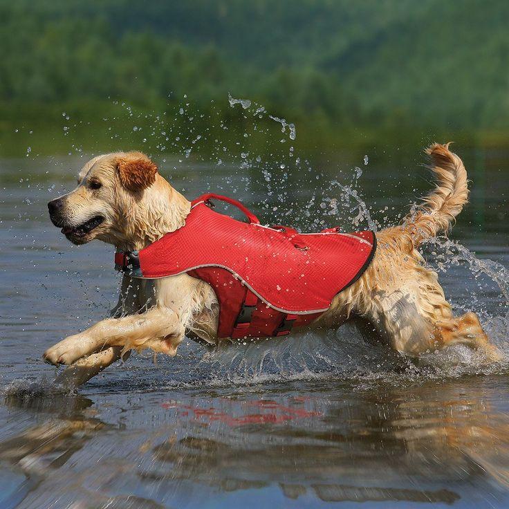 Chaleco Salvavidas para Perros El Surf N Turf de Kurgo® es 2 en 1, además de ser un chaleco salvavidas para tu perro también es un impermeable. Este chaleco es
