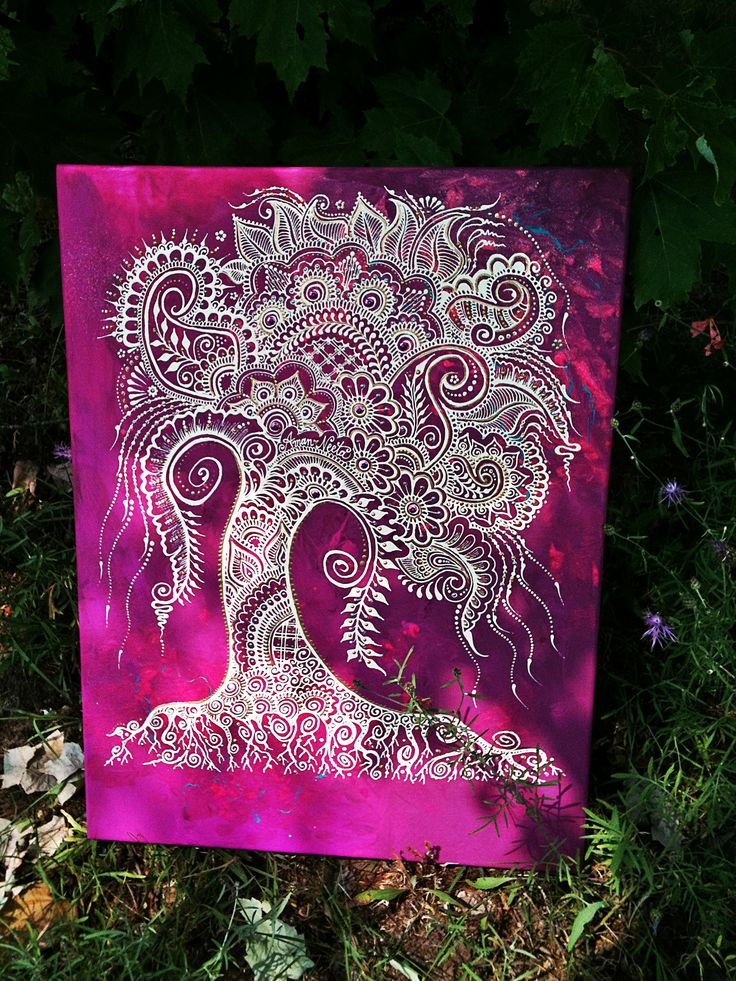 #behennaed #treeoflife Custom, one-of-a-kind tree canvases #henna #mehndi https://www.etsy.com/listing/87953974/henna-mehndi-tree-of-life-canvas-custom?ref=shop_home_active_1