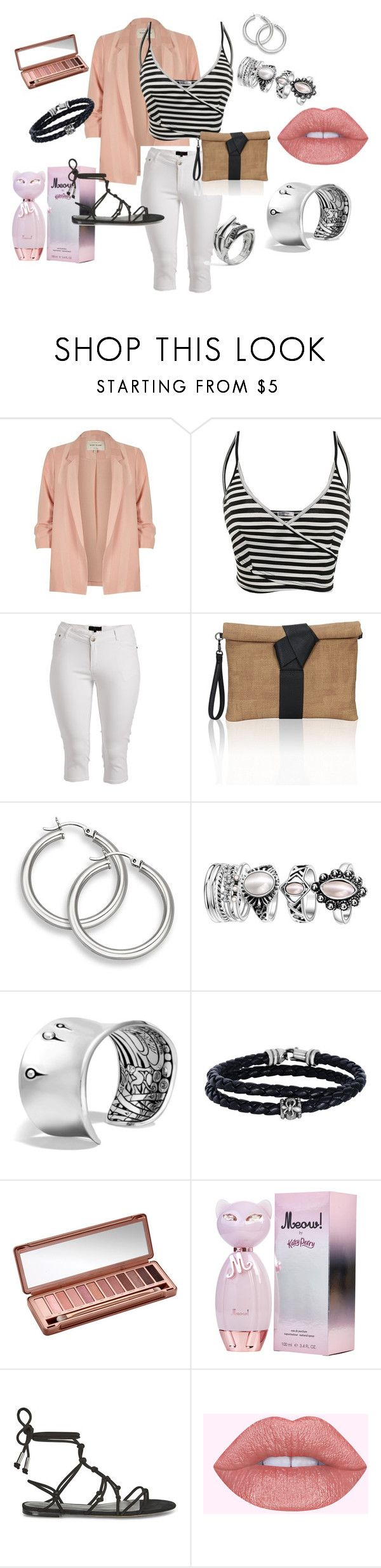 """Hidden Meaning"" by lheier on Polyvore featuring River Island, 1826 JEANS, John Hardy, Phillip Gavriel, Urban Decay and Rebecca Minkoff"
