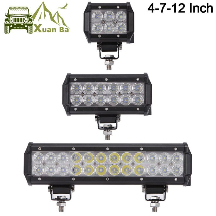 """Cheapest prices US $10.05  XuanBa 12"""" inch 72W Led Light Bar For ATV 4x4 Offroad 18W Work Trucks 4WD Auto DRL 12V Focos Off road Motorcycle 36W Barra Light"""