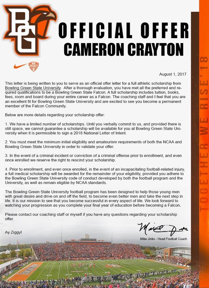 Bowling Green (With images) Athletic scholarships