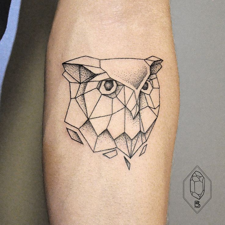 Best ideas about geometric owl tattoo on pinterest