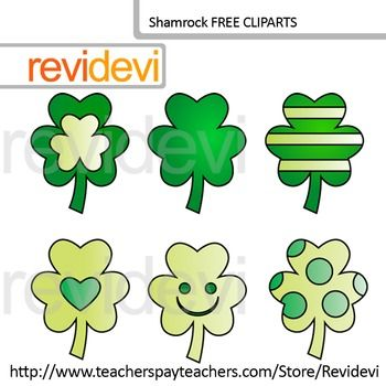 St. Patrick's Day Clip art FREE - Shamrock clipart. Set of 6. Great freebie for creating TpT materials. Teacher seller resource.DON'T FORGET TO RATE!!You might also likeLink-St. Patrick's Day B Digital Papers - Patterned backgroundandLink-St Patrick's Day Kids Clip art and digital papersGreat resource for any school and classroom projects such as for creating bulletin board, printable, learning worksheet, classroom decor, craft materials, activities and games, and for more educational and…