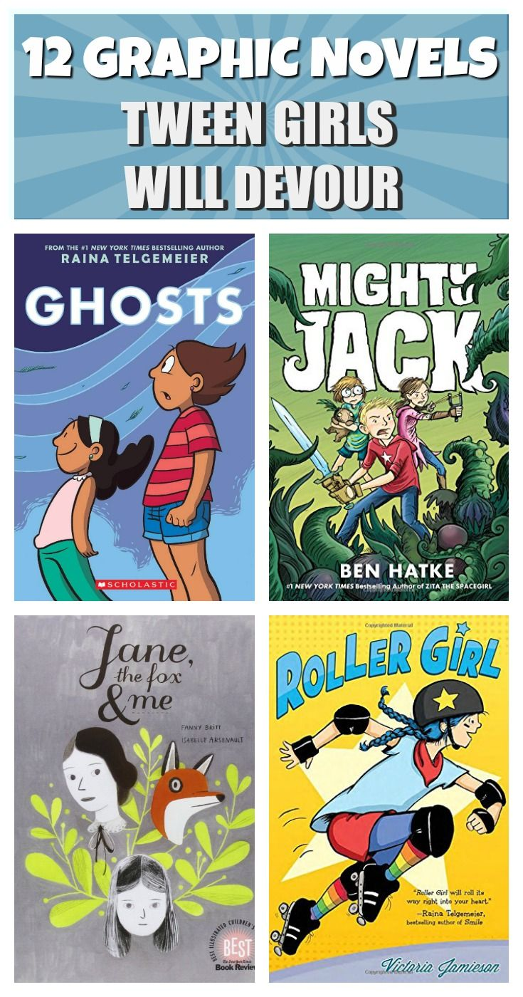 12 outstanding graphic novels for tweens from authors ranging from best-selling Raina Telgemeier to amazing, but lesser-known Rod Espinosa.