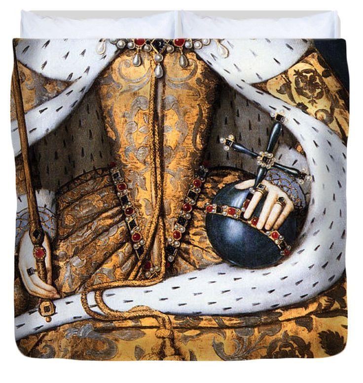 "CORONATION of TUDOR QUEEN ELIZABETH 1  1559 King (104"" x 88"") Duvet Cover"
