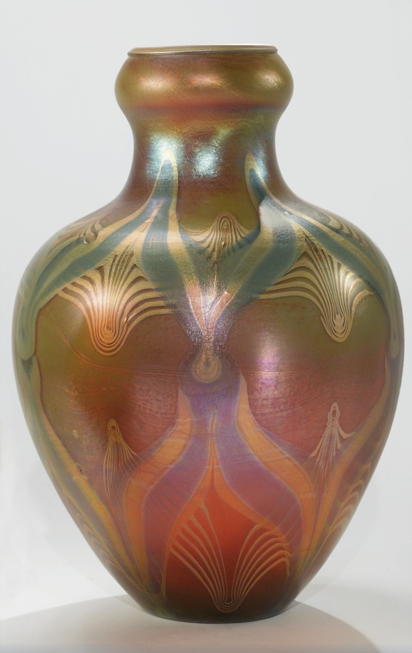 Pulled Feather Vase Tiffany Studios Louis Comfort Tiffany Circa