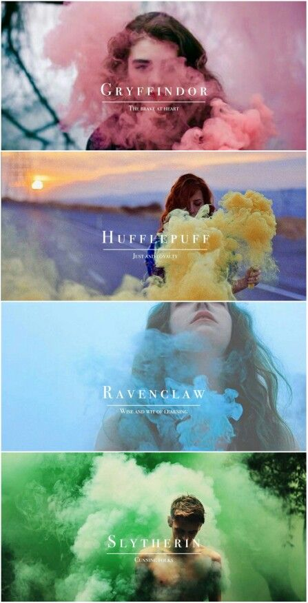 Hogwarts Houses tumblr #harrypotter