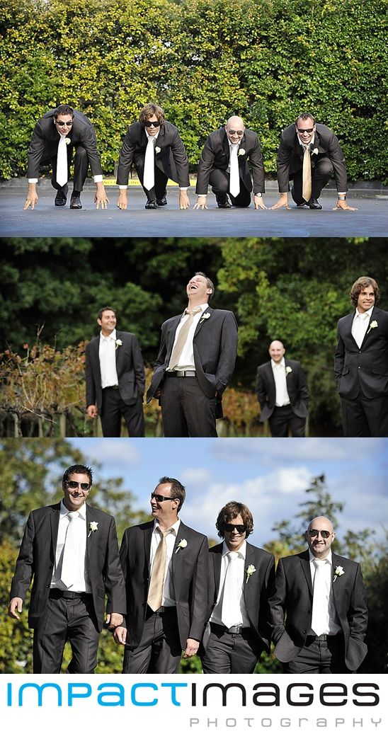 The groomsmen at a wedding on the Central Coast. Wedding Photography by Impact Images - www.impact-images.com.au #impactimagesnsw
