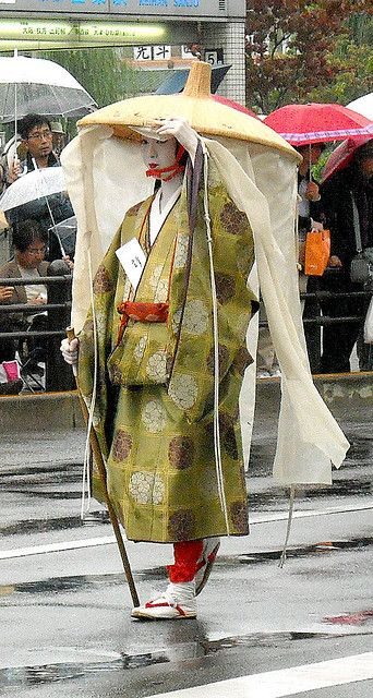 Jidai Matsuri--showing what a noble woman would wear while traveling.