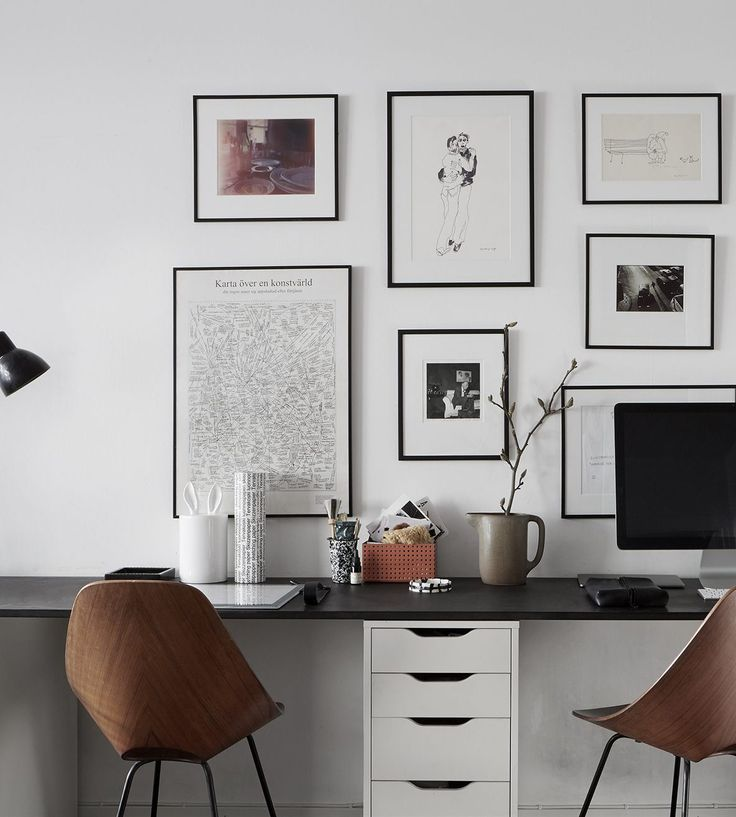 Workspace for two - via Coco Lapine Design Are you looking for unique and beautiful art photo prints (not the ones featured in this pin) to curate your art wall? Visit bx3foto.etsy.com and follow us on Instagram @bx3foto