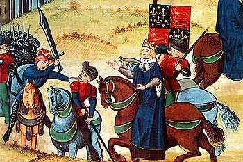 The Peasant's Revolt led by Wat Tyler