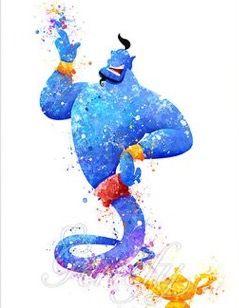 Genie watercolor