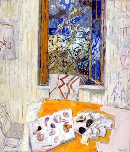 Elisabeth (Liz) Cummings ( b1934) Australia - Summer Window Currumbin. 2004. Oil on canvas. 175 x 150cm.