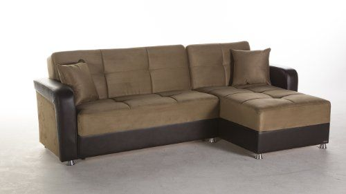Vision Rainbow Dark Beige Sectional Sofa by Sunset