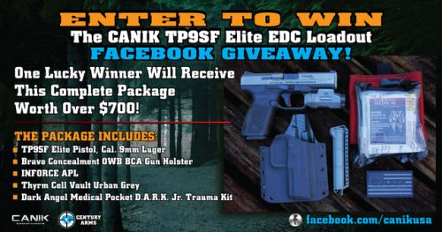 Win a Canik TP9SF Elite Pistol Package Giveaway {US}... IFTTT reddit giveaways freebies contests