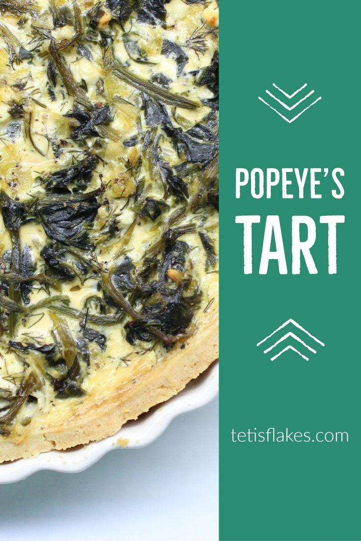 Spinach tart recipe! #spinachtart #spinach #tart #baked #baking #joyofbaking