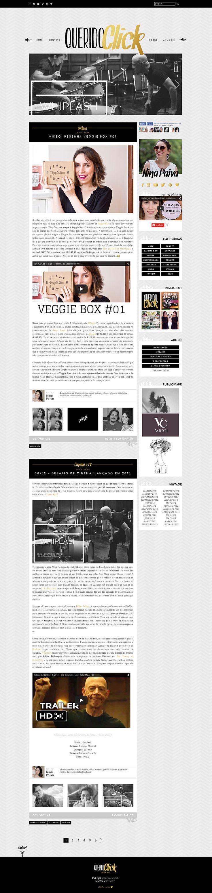 Desenvolvimento do blog em WordPress.