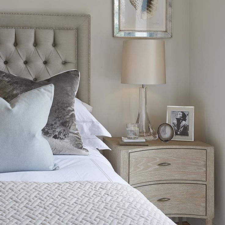 Mirrored Bird Prints Over Bedside Tables Master Bed