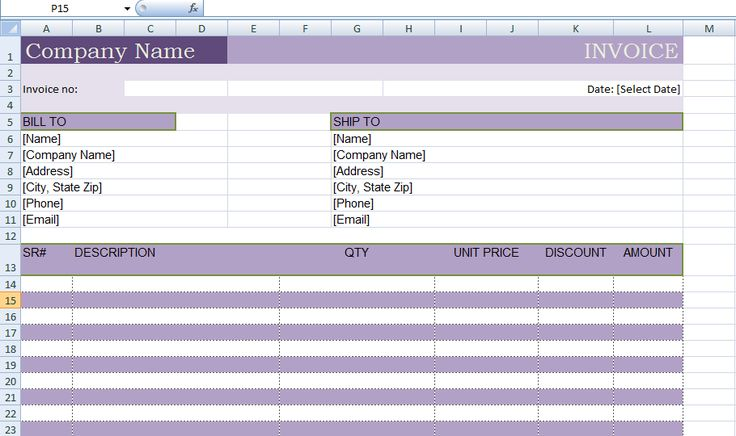 Professional Proforma Invoice Template ExcelTemple Excel - payslip template in excel