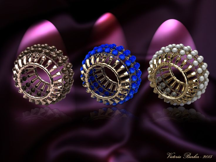3 Orbital Cuffs - white pearl, lapis and chocolate pearl, how beautiful is that?  http://www.victoriabarker.london/orbital/