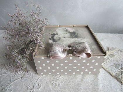 """Коробочка для чая или дамских мелочей""""Старое фото"""" - декупажные материалы"""